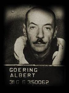 Albert's photo taken for the Nuremberg Trials.