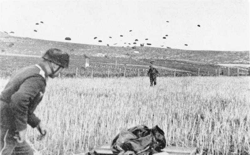 Kreta, Landung von Fallschirmjägern