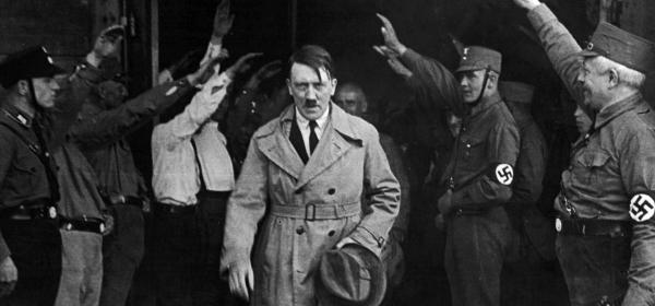 Adolf Hitler looking serious